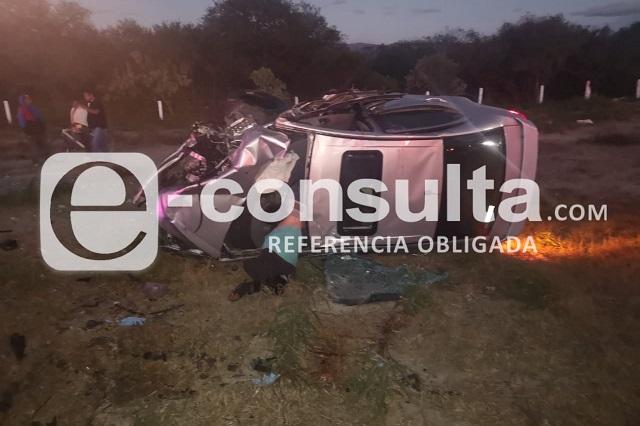 Deja dos muertos choque en la Cuacnopalan- Oaxaca