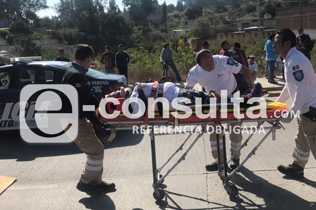 Combi se queda sin frenos y deja 10 heridos en Las Carmelitas