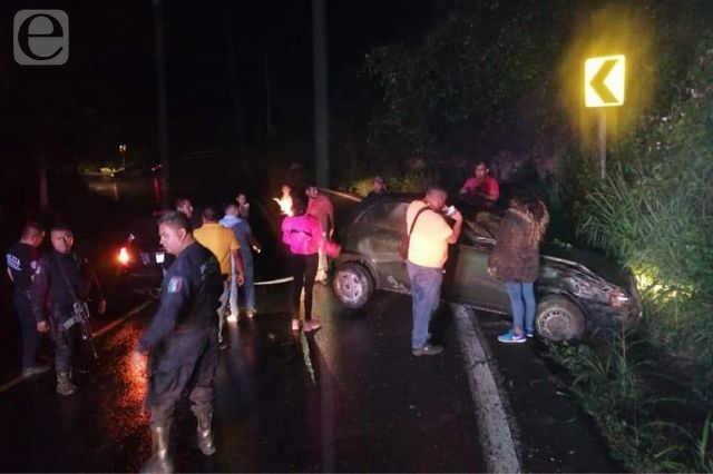 Accidente deja 3 lesionados en la federal México-Tuxpan