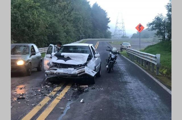 Accidente en la federal México-Tuxpan deja una persona herida