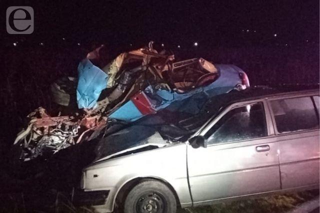 Muere taxista de Cuetzalan tras choque en Cuyoaco