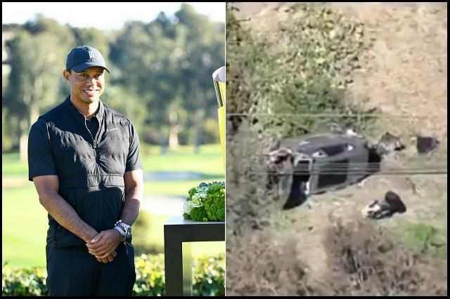 Tiger Woods hospitalizado tras aparatoso accidente de tránsito