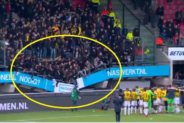 Colapsa grada en el estadio del NEC Nijmegen; no hubo lesionados