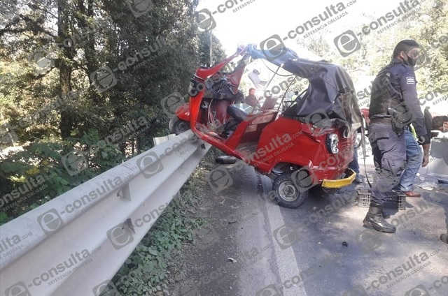 Autobús Serrano impacta a mototortillero