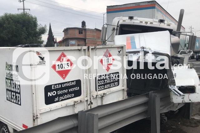 Accidente ocasiona cierre en la autopista Puebla- Orizaba