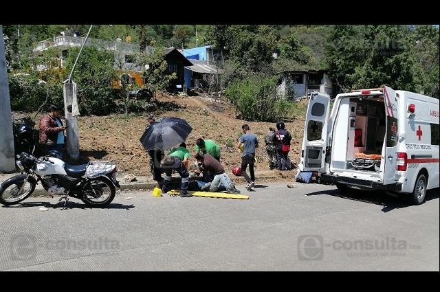 Piden regular velocidad de moto repartidores en Zacapoaxtla