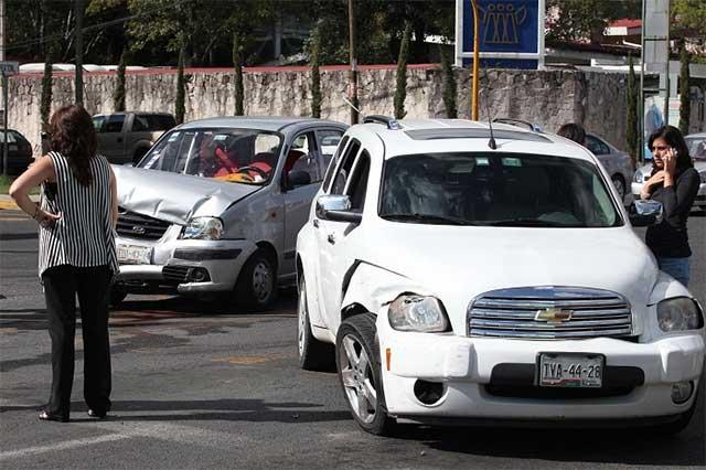 Cada hora un accidente vial en Puebla capital, desde 2014