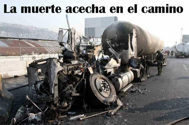 Calles y caminos peligrosos, muertes en accidentes