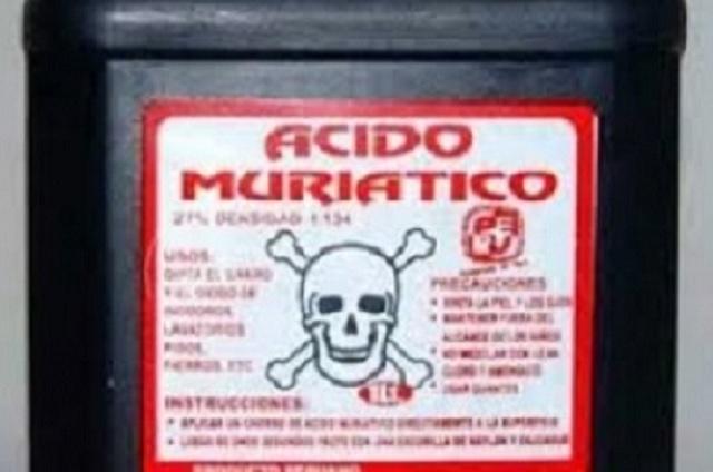 Hombre intenta suicidarse con ácido muriático