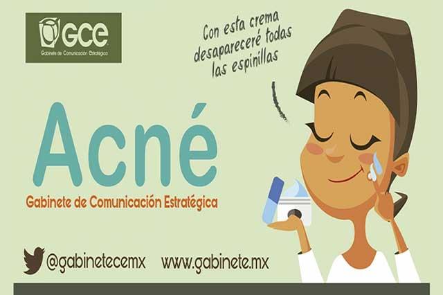 Aparición de acné, como una maldición dermatológica
