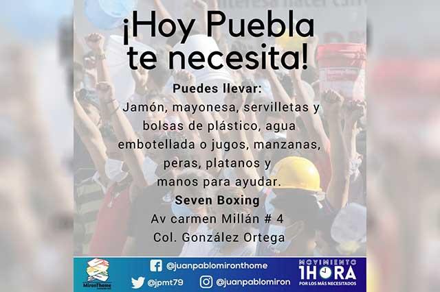 Habilitan centros de acopio en Puebla para damnificados por sismo