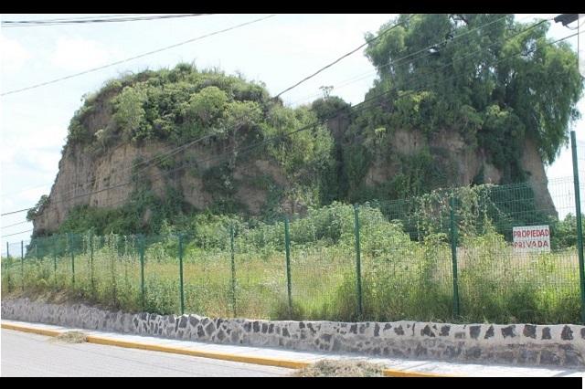 Frenan expropiación del cerro Acozac en San Pedro Cholula