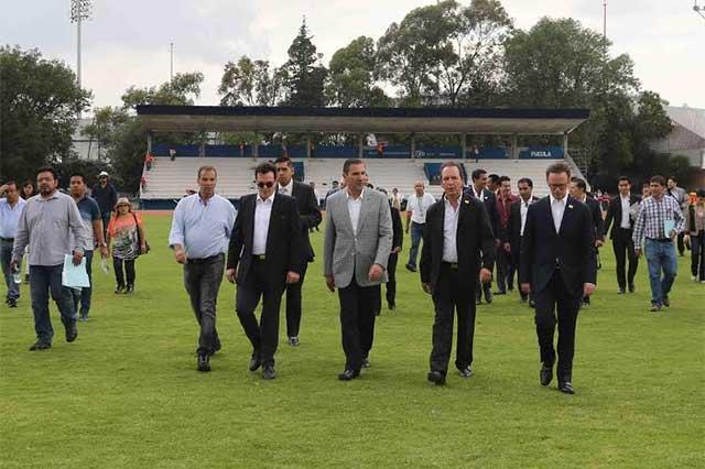 Inaugura Moreno Valle el centro de espectáculos Acrópolis