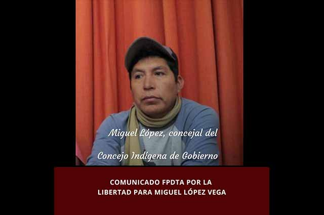 Dan prisión preventiva al activista Miguel López en Puebla