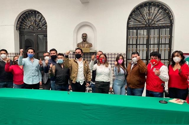 Firma PRI municipal de Puebla acuerdo de unidad rumbo al 2021