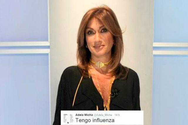 Se contagia de influenza la conductora Adela Micha