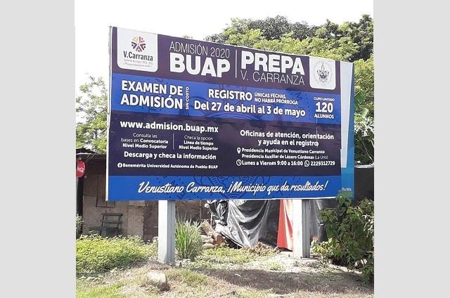 Cancelan instalación de Prepa BUAP en Venustiano Carranza