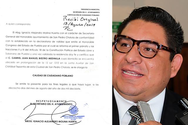Constancia de residencia de Biestro existe y yo la expedí: Ignacio Molina