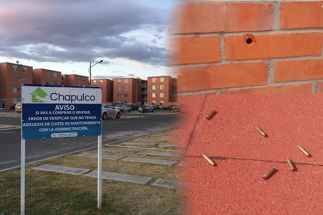Con rifles AR-15 disparan a caseta de vigilancia en Chapulco
