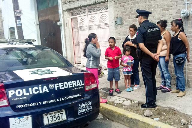 Policía Federal ubica en Puebla a niña extraviada del Edomex