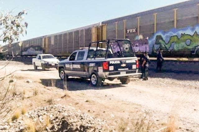 Roban dos trenes de carga en Puebla