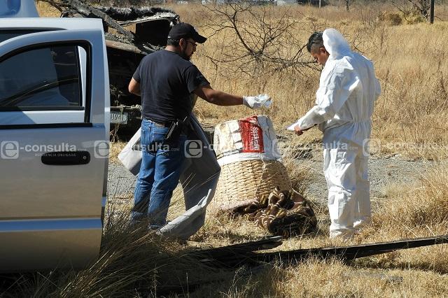 Hallan cadáver maniatado y encobijado en San Aparicio