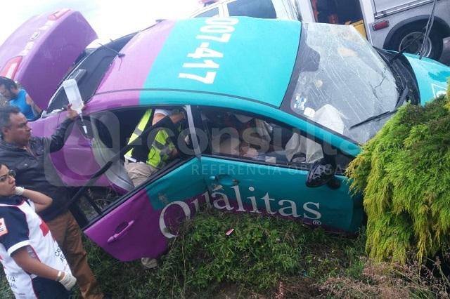 Muere ajustador de Qualitas tras choque en la Atlixcáyotl