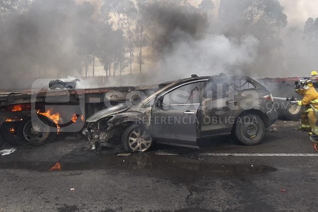 Incendio de ADO deja un muerto y 18 heridos en la Puebla-Orizaba