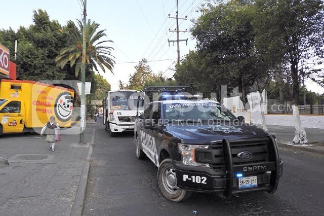 Dos hombres armados asaltan un ruta 72-A en Xanenetla