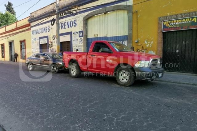 Fuente robada en San Roque estaba en un taller mecánico