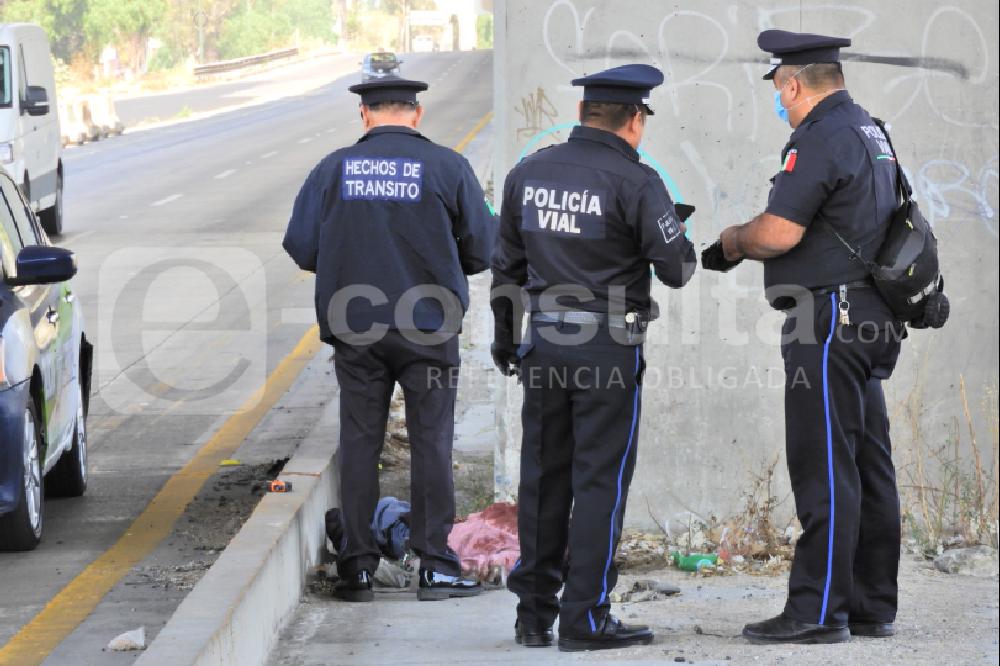 Hombre muere atropellado en la autopista México-Puebla