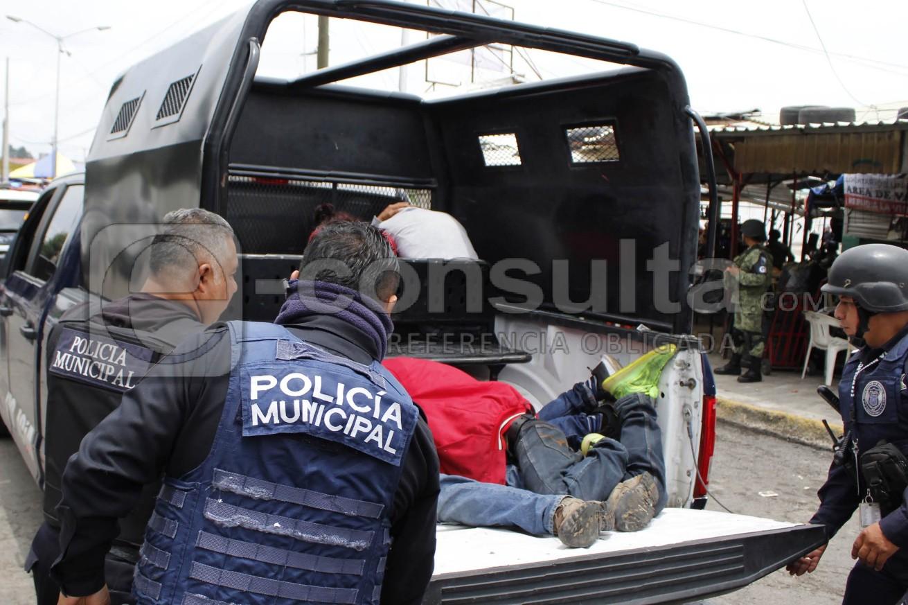 SSPTM da golpe en La Margarita y detiene a 8 en narcotiendita