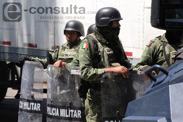 Civil es abatido tras agredir a militares en Tecamachalco