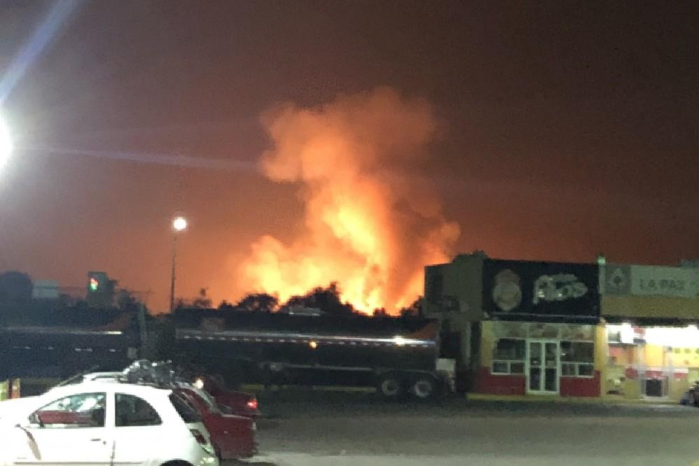 Incendio por fuga de gas causa alerta entre Puebla y Tlaxcala