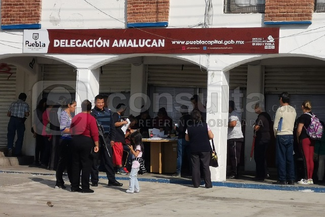 Asaltan módulo de la Tesorería Municipal en Amalucan