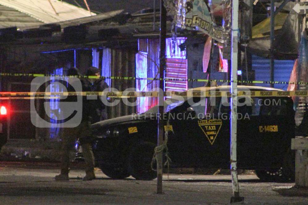 Caen 4 con cuerpo embolsado y taxi robado, en el Mercado Unión