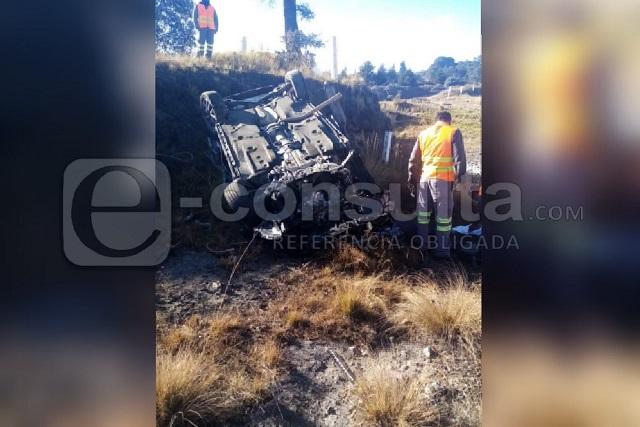Muere mujer en primer accidente del 2020 en la Amozoc-Perote