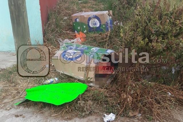 Dejan cuerpo desmembrado con narcomensaje en Puebla