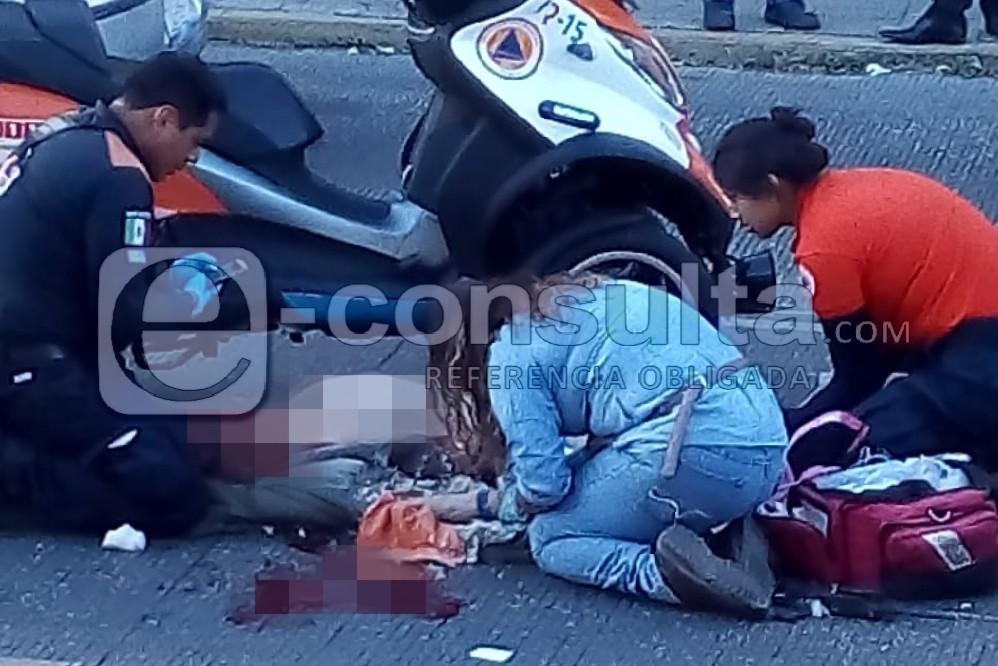 Muere peatón atropellado frente al Teatro Principal