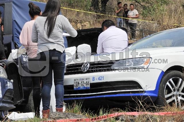 Hallan cuerpo calcinado en un automóvil en Huejotzingo
