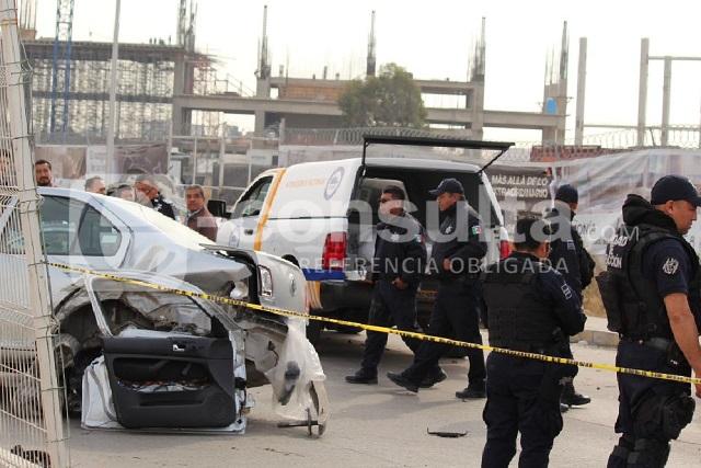 Muere comerciante por choque de patrulla y ebrios en la Atlixcáyotl