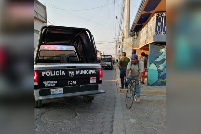 Hieren a dos por balacera en negocio de San Andrés Cholula