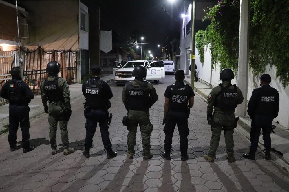 Despliega FGR cateo en barrio de San Pedro Cholula