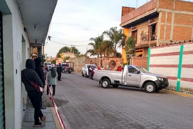 Asaltan casa y asesinan a comerciante en Coronango