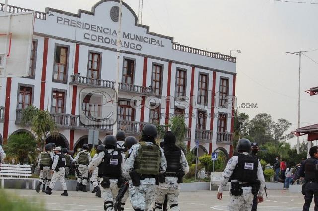 Por inseguridad, dañan alcaldía de Coronango y cuartel en Cholula