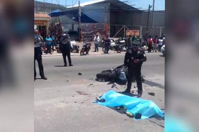Muere motociclista tras choque en la Puebla-Tehuacán