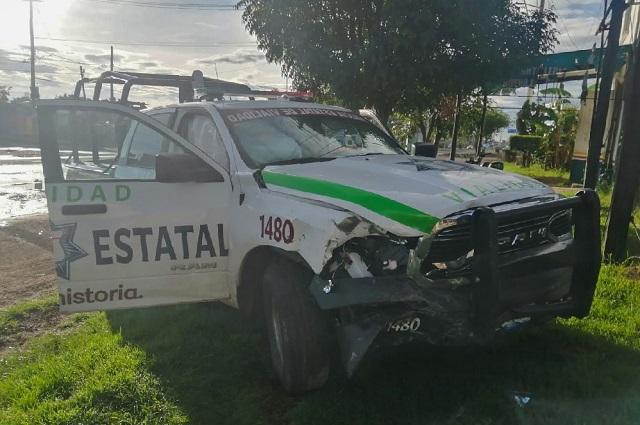 Video: Así fue el choque de una patrulla de la SSP en Cholula