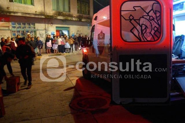Explota tanque de gas en Canoa y deja tres heridos