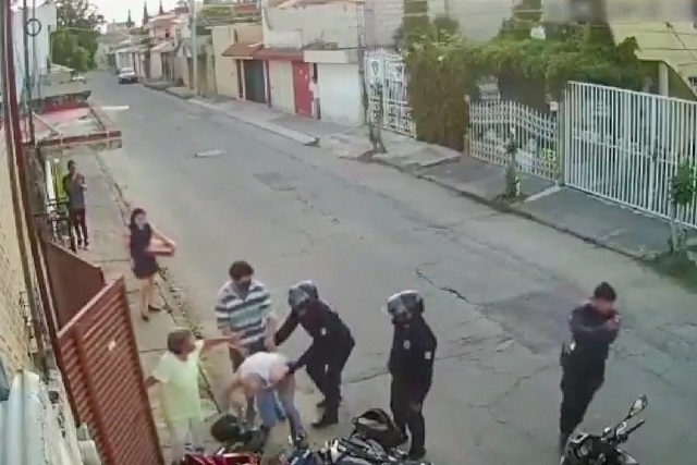 Video muestra que policías no agredieron a vecino de colonia Universidades