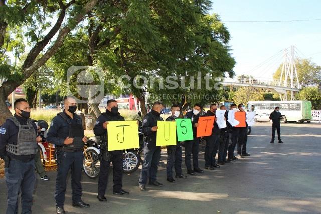 Protestas por detención de policías de Puebla acusados de homicidio